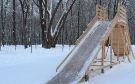 В Реадовке открылась платная деревянная горка