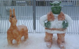 В смоленских колониях прошел конкурс на лучшую снежную фигуру