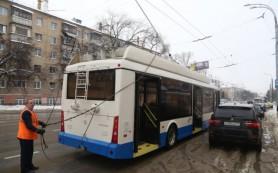 Бесконтактный троллейбус, покинувший Смоленск, сломался в Белгороде