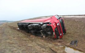 В Рославльском районе погиб водитель, столкнувшись с фурой