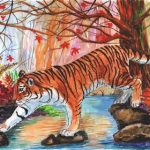 Смоленские детдомовцы подарили Владимиру Путину рисунки с амурским тигренком