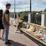 В Смоленске на набережной прошла выставка работ учащихся Центра дополнительного образования