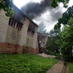 В Верхнеднепровском горело здание Дома культуры