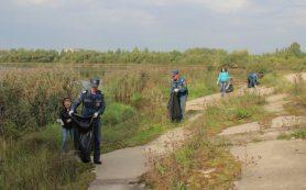 Сотрудники МЧС со студентами СмолГУ очистили берег озера ТЭЦ-2