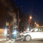 В Смоленске на проспекте Строителей из-за ДТП образуется пробка