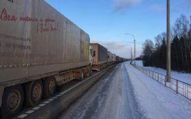 Смоляне стоят в глухой пробке на российско-белорусской границе