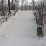 Садись и катись... В Смоленске лестница превратилась в горку