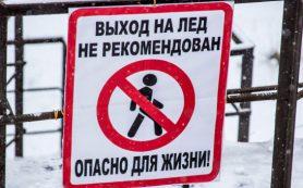 Передвигаться по льду озера в парке 1100-летия Смоленска опасно!