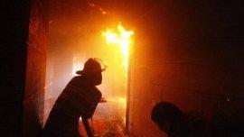 В Угранском районе сгорел сельский магазин