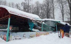 В «Лопатинском саду» рухнула крыша автодрома