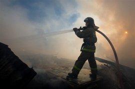 В Рославле на улице Большой Смоленской сгорел жилой дом
