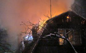В ночь с воскресенья на понедельник в Смоленской области от огня пострадали два жилых дома