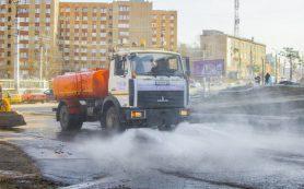 Улицы Смоленска будут мыть специальным безопасным для окружающей среды шампунем