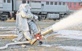 Пожарные поезда Смоленского региона МЖД выходят на круглосуточное дежурство