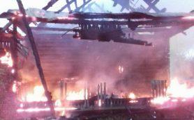 Под Смоленском в «Подснежнике» сгорела баня