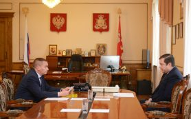 Алексей Островский провёл рабочую встречу с главой города Смоленска