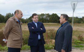 Губернатор посетил Монастырщинский район