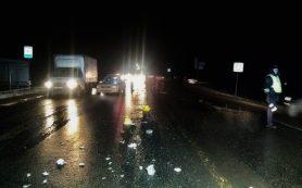 ДТП с фурой и легковым авто вызвало пробку в Смоленске