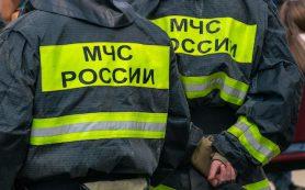 Кладовая загорелась в подъезде дома в Сафонове