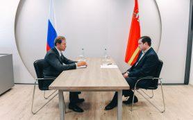 Министр промышленности и торговли Денис Мантуров посетил Смоленскую область