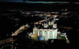 В Смоленске у Свято-Успенского кафедрального собора появилась новая подсветка
