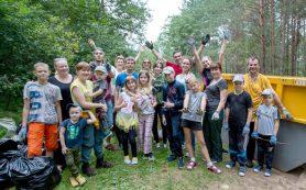 В Смоленском районе из леса вывезли еще 139 мешков мусора