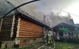 Дом горел на улице Минской в Гнездове