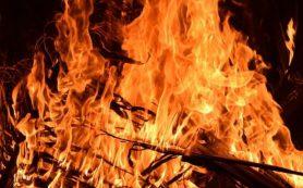 Жилой дом горел в Рославле на улице Красина
