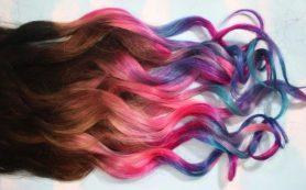 Как окрасить искусственные волосы