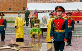 В Смоленск доставили мощи Александра Невского