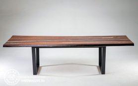 Стол из слэба с янтарной вставкой