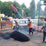 В Смоленске в Лопатинском саду продолжается ремонт пешеходных дорожек